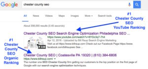 YouTube Chester County SEO